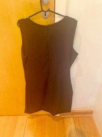 Vestido coquetel novo preto M - Foto 2