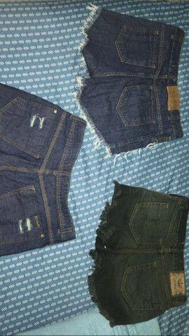 Lote cm 3 shorts número 38 forma pequena. - Foto 2