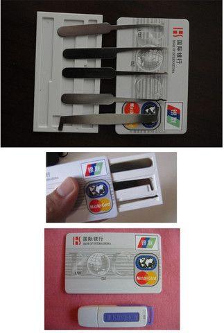 Kit 007 Spy Espião Cartao Peças Michas Lock Pick Abertura Cadeados Fechaduras - Foto 4