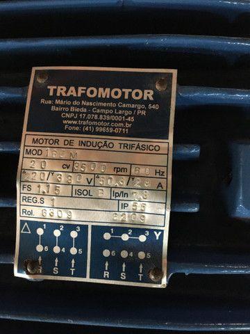 Motor elétrico trifásico 20 cv 3500 rpm - Foto 2