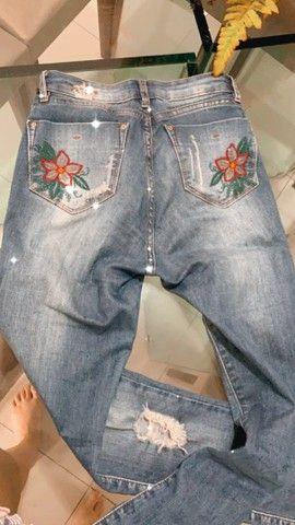 Calça feminina jeans  - Foto 2
