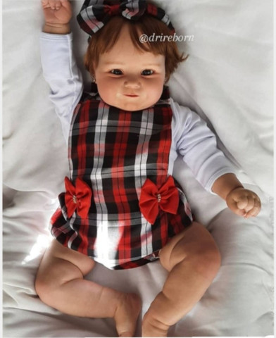 Bebê reborn realista kit Maddie 60cm