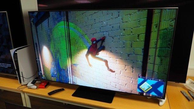 "Samsung Smart TV QLED 4K Q80T 55"", Pontos Quânticos , Borda Infinita. 120 hz Hdmi 2.1.  - Foto 2"