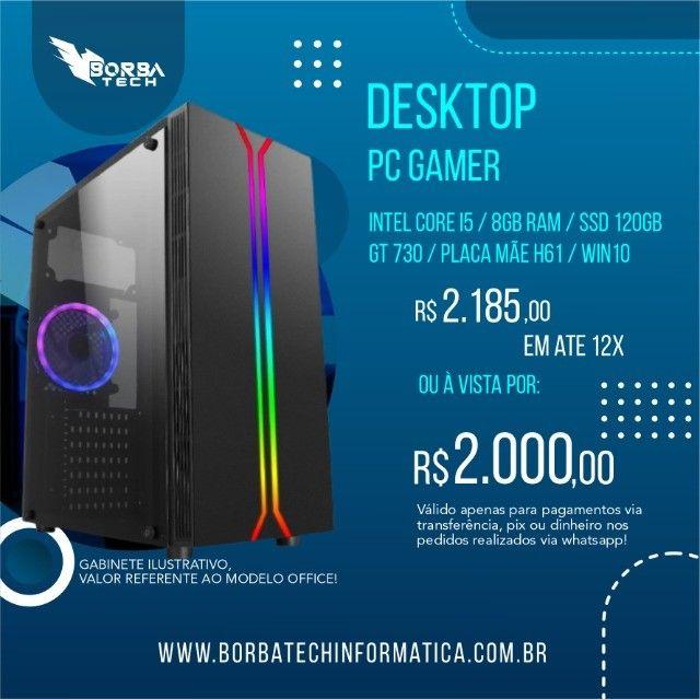 PC Gamer i5 - 8GB - GT 730 | Troco e Passo Cartão