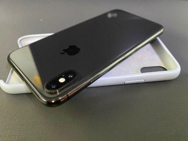 iphone X 10 black preto 256GB impecavel todo original 100% - Foto 2