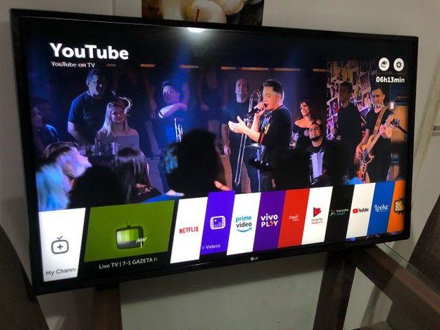 """Smart TV LG 50"""" inteligência artificial WebOS completa com nota fiscal"""