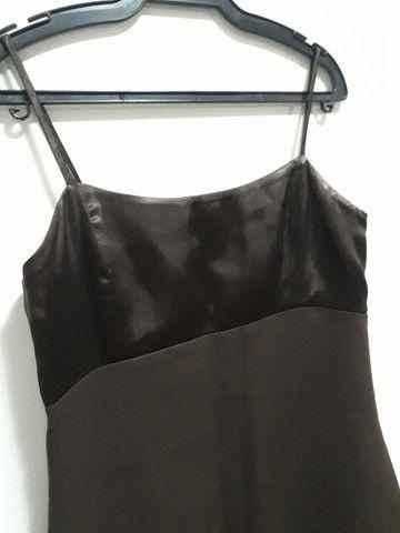 Vestido marrom de festa  - Foto 2