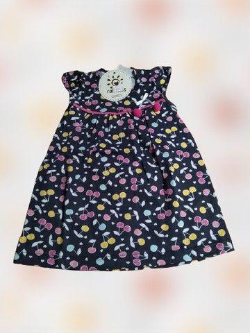 Vestido Bebê Regata Cerejinhas Tam. M Ralakids Ref. 7456 - NOVO