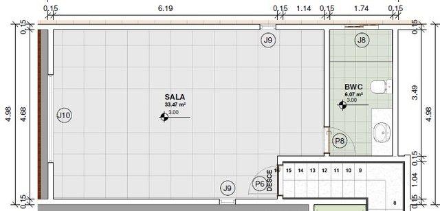 Alugo Sala Comercial Com Recepção  - Foto 6