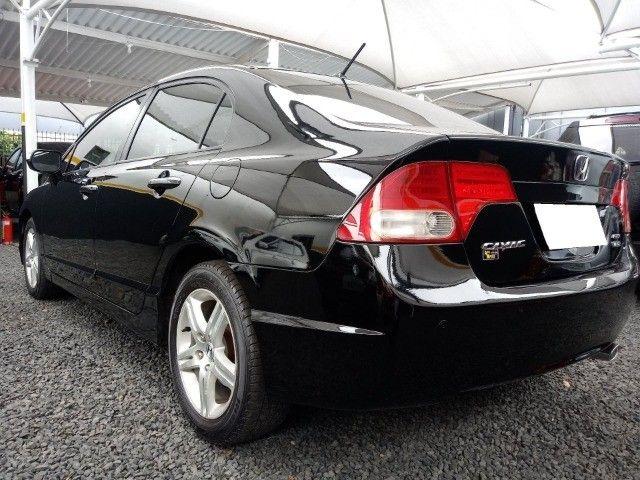 Honda Civic lxl 1.8 cinza 16v flex 4p aut. - Foto 5