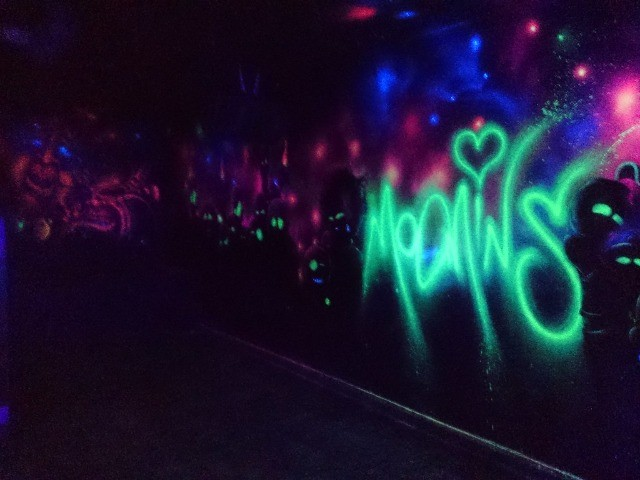 Tinta spray roxo fluorescente Nou Colors (violeta luminoso) - Foto 4