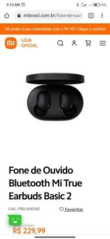 Fone de Ouvido Bluetooth Mi True Earbuds Basic 2 - Foto 6