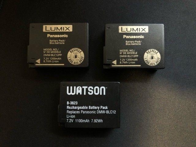 3 Baterias Panasonic DMW-BLC12PP