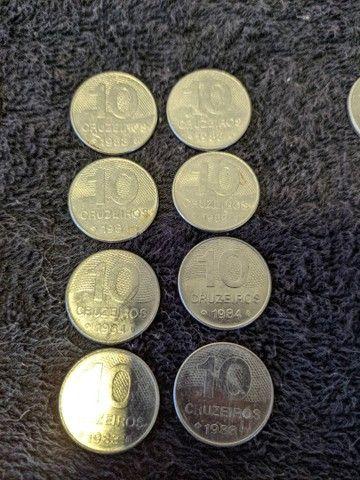 Moedas Cruzeiros de 1, 5, 10, 20 e 50. (1980-1985) - Foto 3