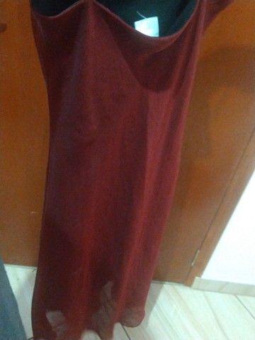 vestido sexy vermelho chique - Foto 5