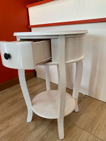 Mesa Rústica Decorativa Branca - Foto 3