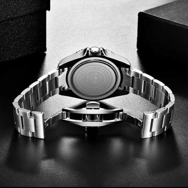 Relógio Masculino Lige 10045 Luxo Original Top Super Oferta - Foto 2