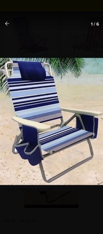 Cadeira De Praia Reclinável Com Bolsa Térmica - Foto 6