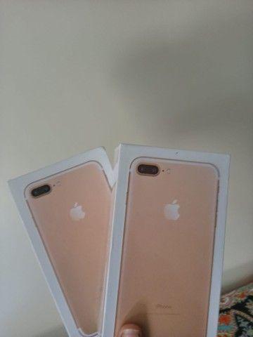 iPhone 7 Plus 128gb lacrado com nota fiscal - Foto 2