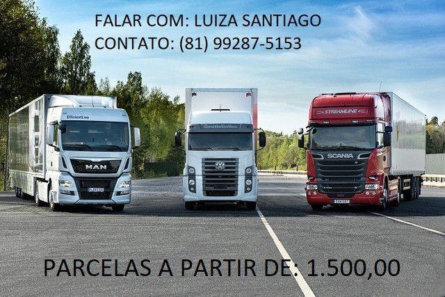 Caminhão de Forma Parcelada, Entrada + Parcela!!