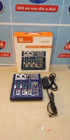 Mesa de som Bluetooth 4 canais  LE-708  -Entrega Grátis  - Foto 3