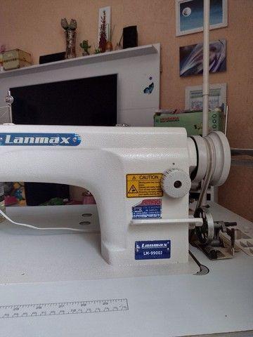 Máquina reta industrial LANMAX semi nova
