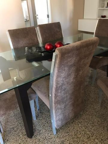 Mesa de Sala Com 6 Cadeiras (Vidro) - Foto 4