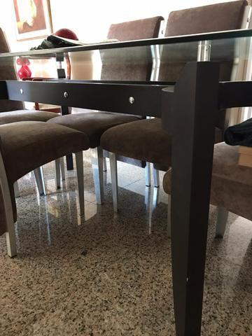 Mesa de Sala Com 6 Cadeiras (Vidro) - Foto 2