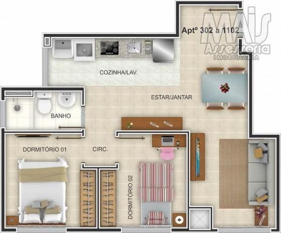 Apartamento para venda em novo hamburgo, centro, 2 dormitórios, 1 banheiro, 1 vaga - Foto 5