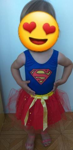 Fantasia da supergirl infantil - Foto 3