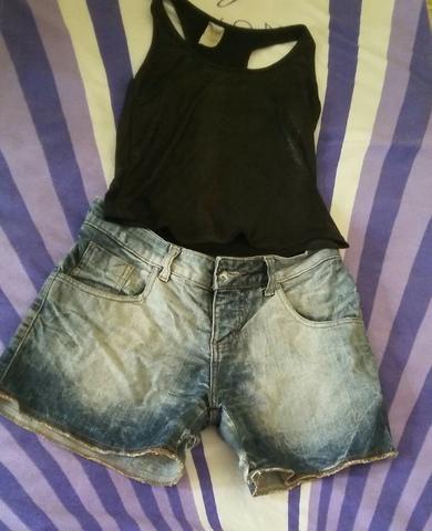 Compre o short jeans e leve grátis uma regata