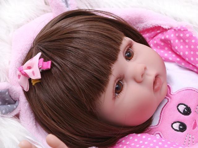 Boneca Reborn Bebê Coelinha toda de Silicone - Foto 2