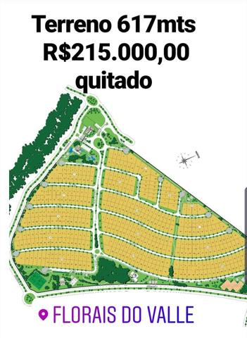 Lote condomínio florais do Valle 617mts