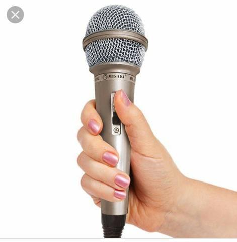 Microfone misaki com cabo - Foto 3