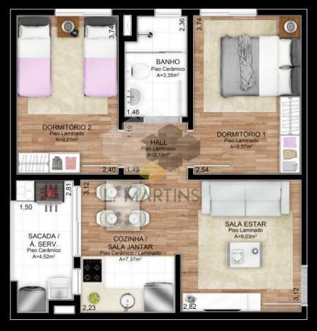 Apartamento para venda em novo hamburgo, rondônia, 2 dormitórios, 1 banheiro, 1 vaga - Foto 10