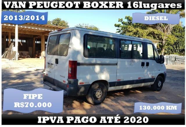Van Peugeot Boxer 16 Lugares 2014 Ipva Pago até 2020 - Foto 2