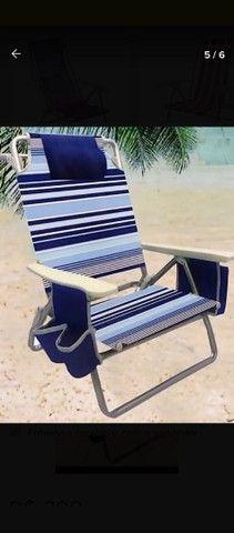 Cadeira De Praia Reclinável Com Bolsa Térmica - Foto 3
