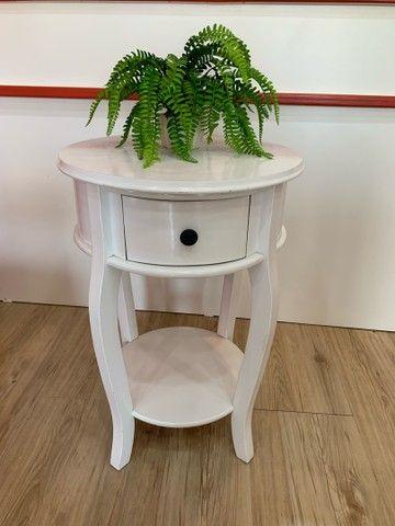 Mesa Rústica Decorativa Branca - Foto 2