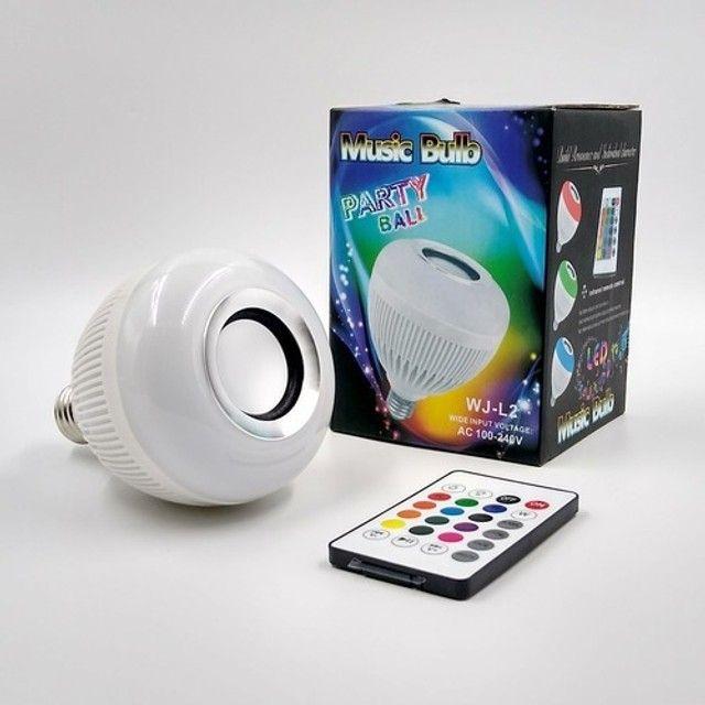 Lampada Caixa De Som Bluetooth Com Controle Remoto