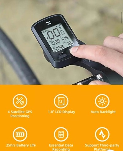 Velocimetro GPS Bike Bicicleta Noturna Xoss G+ Plus Bluetooth/Strava Lacrado 10x Sem Juros - Foto 4