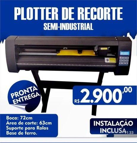 Plotter de recorte semi-industrial profissional com instalação - Foto 6