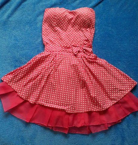 Vestido Rosa de Bolinhas  - Foto 4