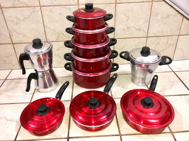 Jogo de panelas, cuscuzeira, frigideiras, cafeteira  - Foto 3