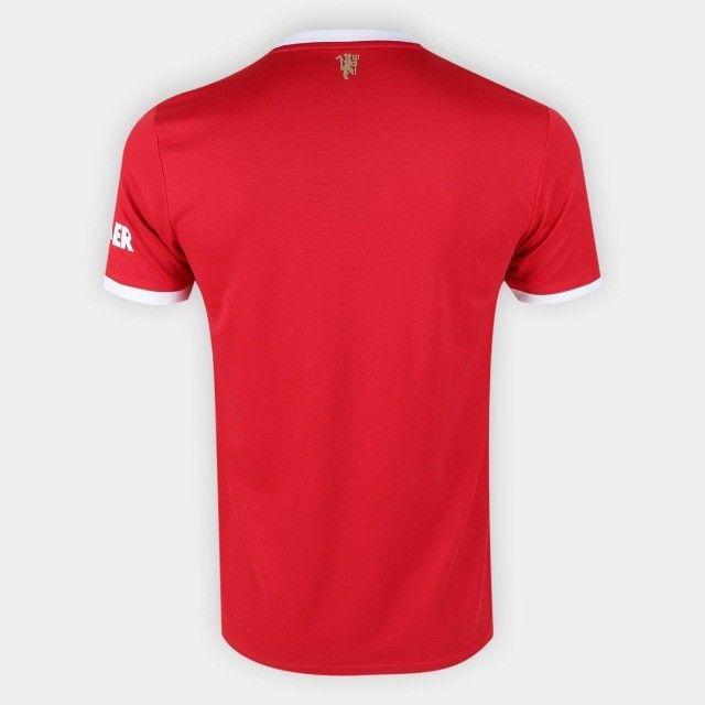 Camisa Manchester United Home 21/22 s/n° Torcedor Adidas Masculina - Vermelho - Foto 2