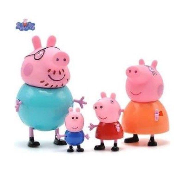 Peppa Pig Miniatura Familia 4 personagens