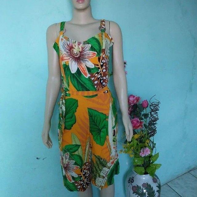 Macacão pantalona Feminino floral - Foto 6