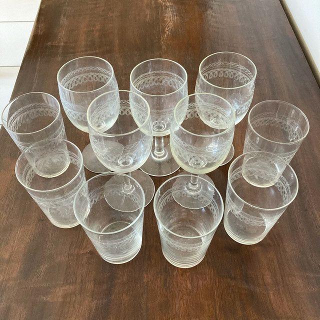 Conjunto de taças e copos de cristal  - Foto 3