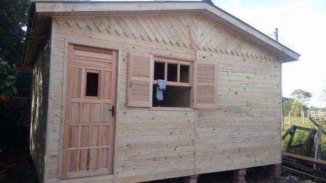 Casa pré Fabricada Pinus Macho Fêmea-5,40x5,40