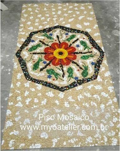 Piso Mosaico, acabamento, porcelanato, mosaico, mandala - Foto 2