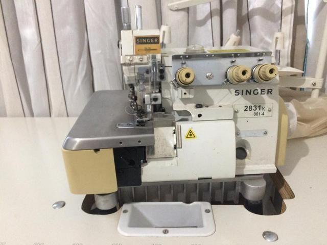 Máquina industrial overlock 3 fios